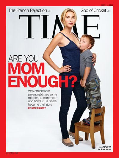 Portada revista Time sobre amamantamiento y mujer segura