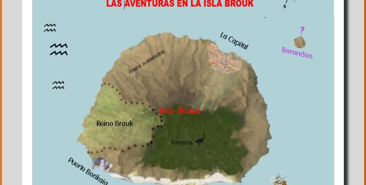 Mapa de la Isla Brouk