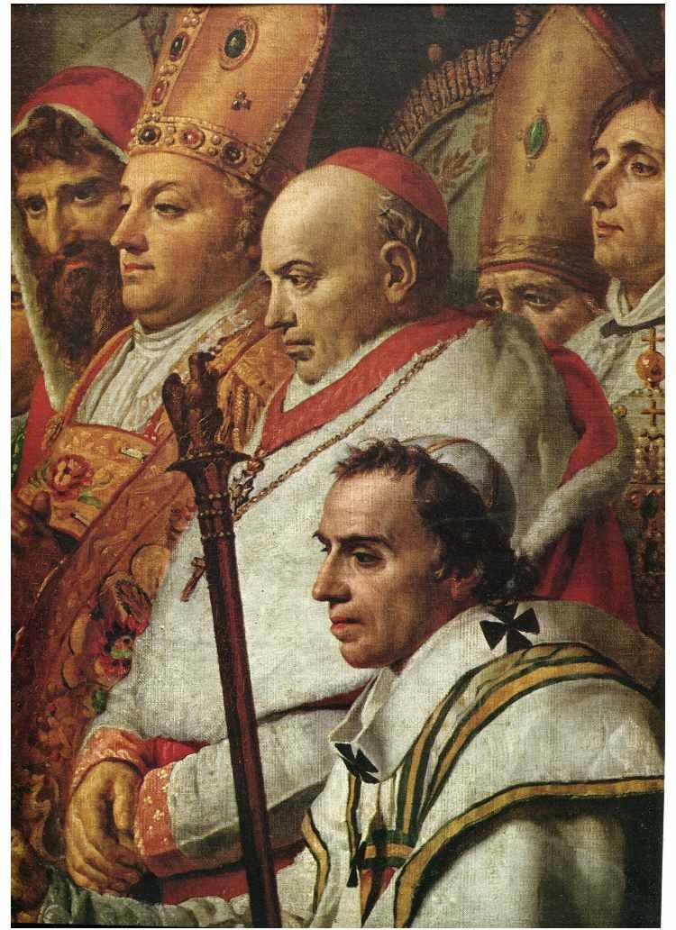 Detalle consagracion y coronacion de Napoleon por Louis David