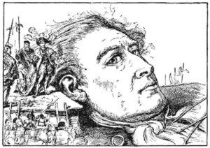 lemuel Gulliver atrapado en Brobdingnag