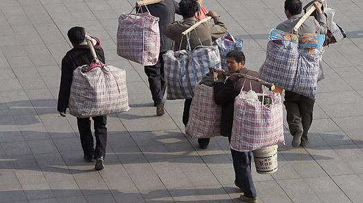 China, obreros migrantes