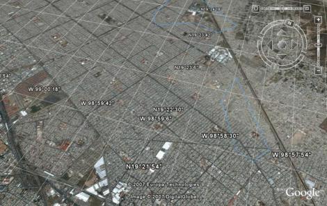 Vista aérea de las afueras de Ciudad Mexico, aglomeración humana de 18 millones de habitantes.