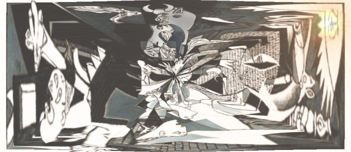 Una versión del Gernika de Picasso, basada en el paro, la miseria, la incertidumbre de la crisis