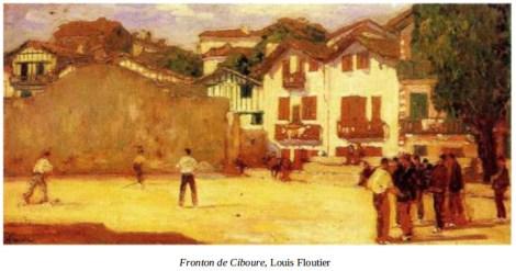 Fronton de Ciboure por Louis Floutier