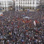 Concentración por répública española en la plaza del Sol