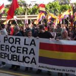 Pancarta por una III República española