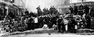 Marx, en el marco de la AIT, estuvo políticamente activo durante la lucha de los comuneros parisinos.
