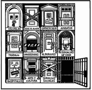 Las puertas del régimen burgués.