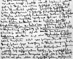 tercera página de la carta manuscrita de Marx a Weydemeyer