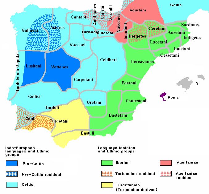 CREDITOS : Wikipedia: Mapa de poblaciones prerromanas en Iberia.