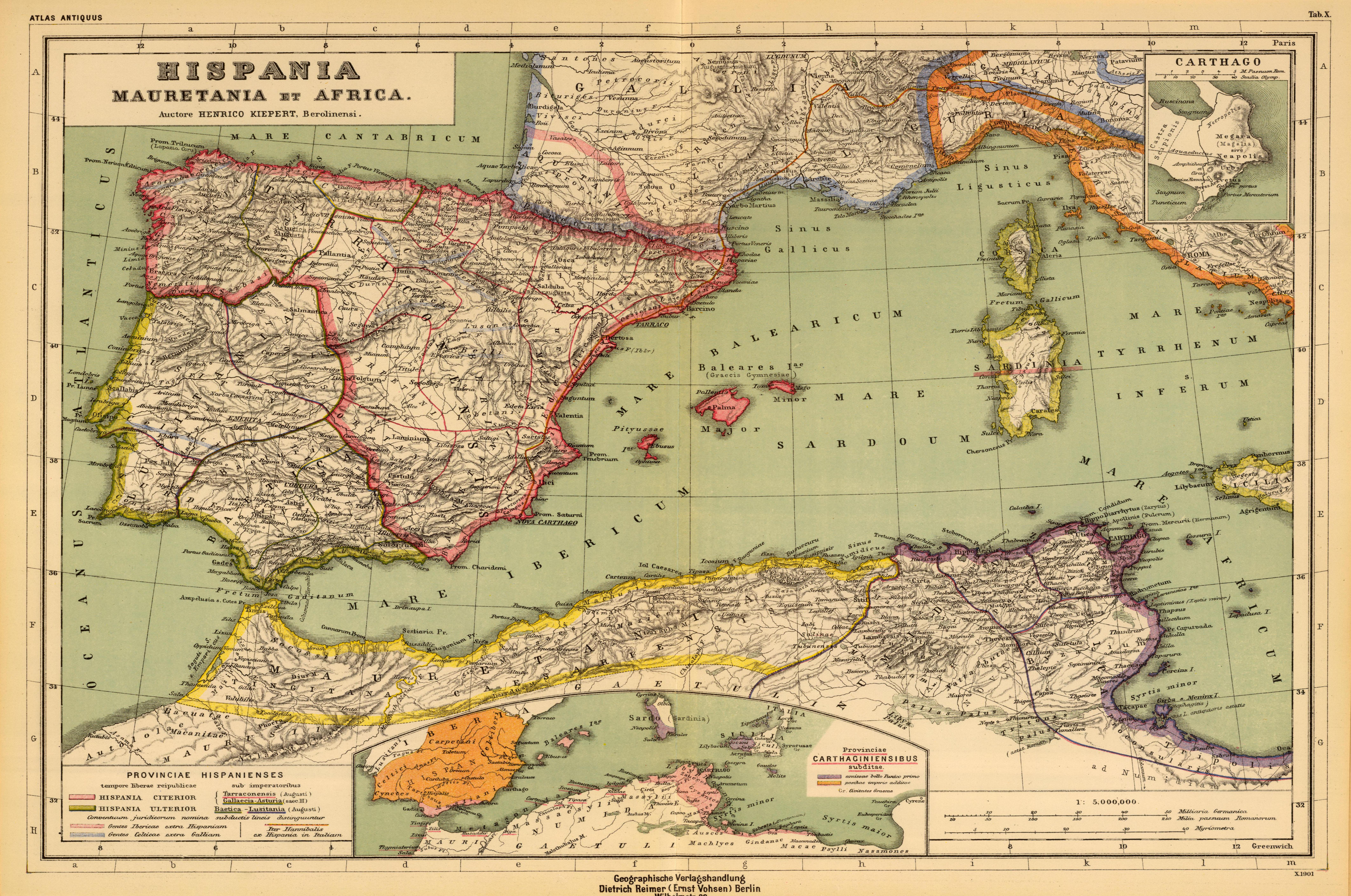 Heinrich_Kiepert._Hispania,_Mauretania_et_Africa