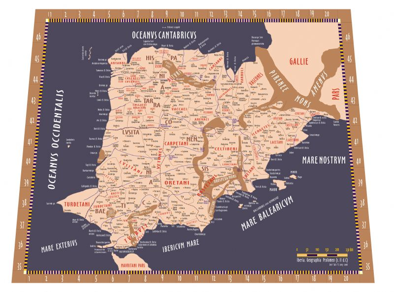 Iberia_Mapa de Enki Paterna sobre geografia ibérica de Ptolomeo