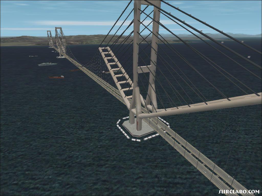 Aspecto de un diseño para el Puente de Gibraltar.