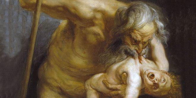 El dios Saturno, devorando a uno de sus hijos